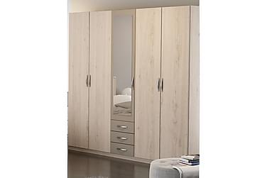 GERE Garderob 212 4+1 Dörrar 3 Lådor Spegel Ljus Ek