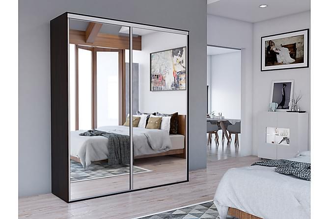 Grande Garderob 204x62x244 cm - Grå|Vit - Inomhus - Förvaring - Garderober