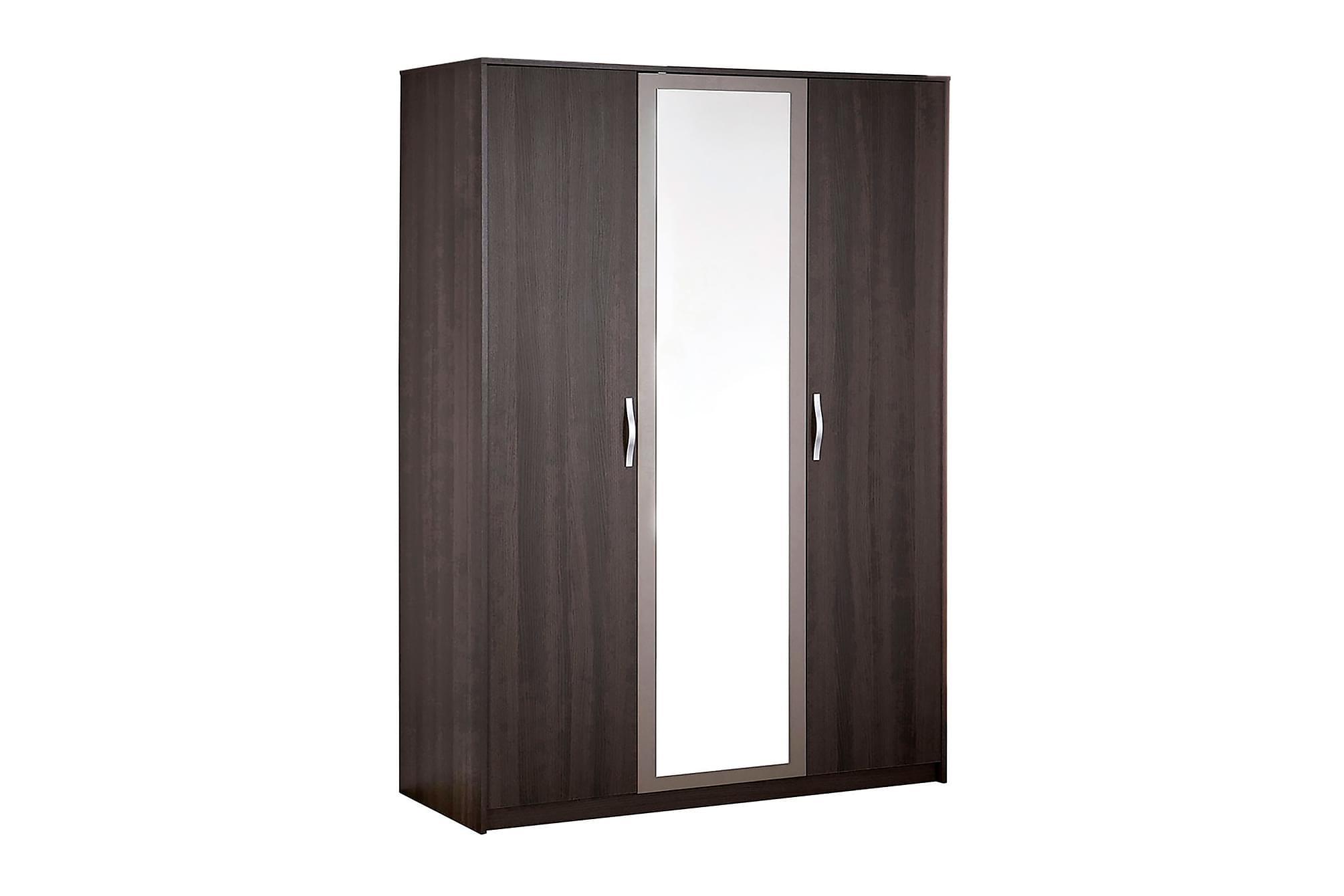 GRAPHIC Garderob 139 3 Dörrar Spegel Mörk Ek/Grå