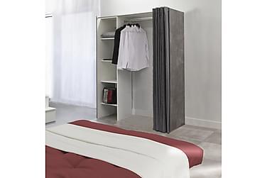 KANATA Garderobssystem 123/160 Betong/Vit