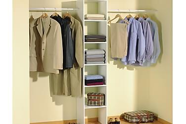 KOLONN Garderobssystem 140/240 2 Klädstänger Vit