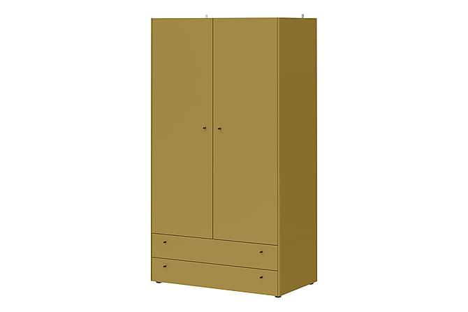 LOVI Garderob 108 2 Dörrar 2 Lådor Gul - Inomhus - Förvaring - Garderober