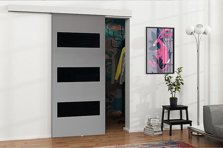 MALIBU Dörr 204x86x205 cm - Antracit/Svart - Möbler & Inredning - Förvaring - Garderober