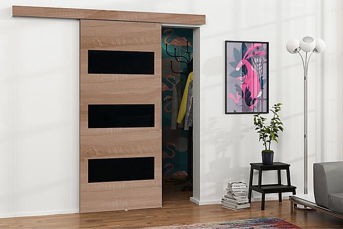 MALIBU Dörr 204x86x205 cm - Ek|Svart - Möbler & Inredning - Förvaring - Garderober
