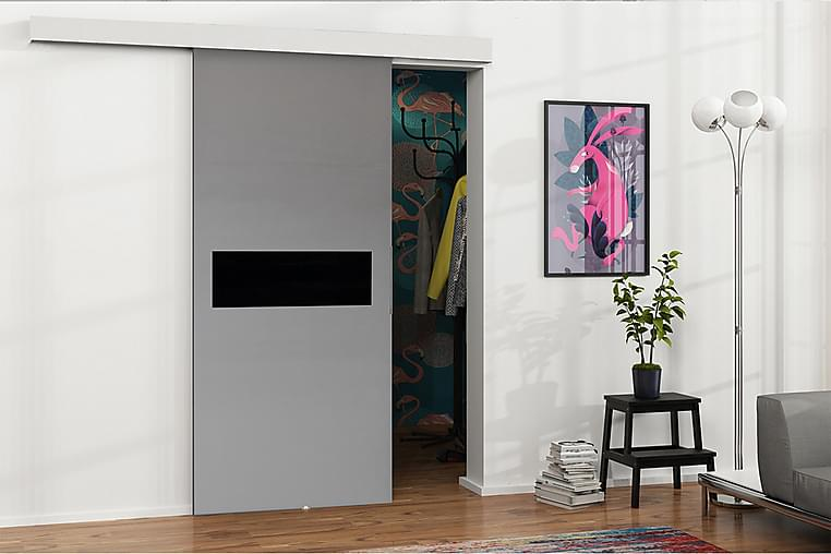 MALIBU Dörr 220x106x205 cm - Antracit/Svart - Möbler & Inredning - Förvaring - Garderober