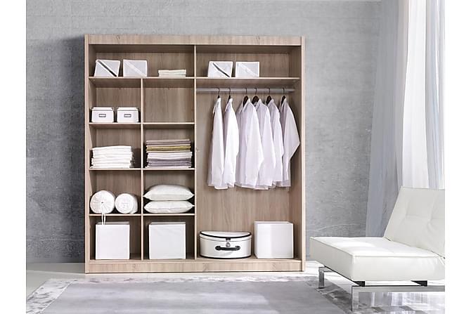 MARGARET Garderob 180x60x215 cm - Grå/Vit - Möbler & Inredning - Förvaring - Garderober