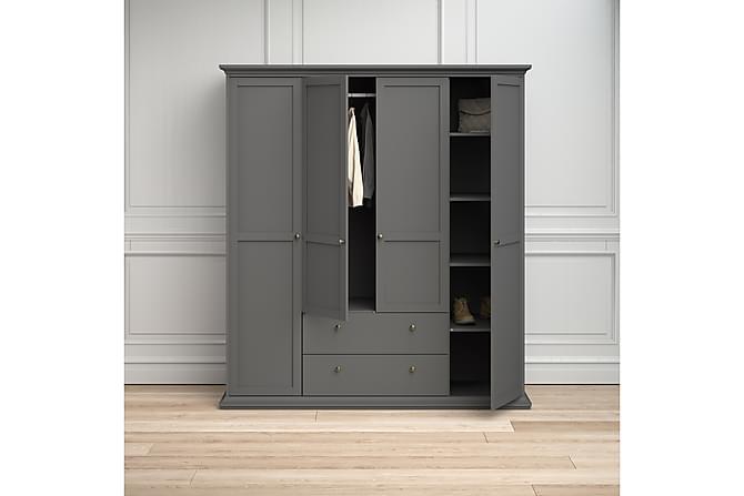 PARIS Garderobsskåp 201 cm Grå - Möbler & Inredning - Förvaring - Garderober