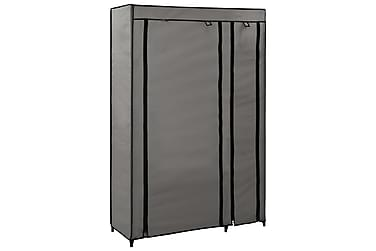 Resegarderob grå 110x45x175 cm tyg