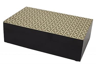 ROHAN Box 6x10 cm Guld/Svart/Trä