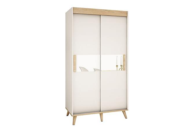 SKANDI Garderob 120x62x208 cm - Beige Vit - Möbler & Inredning - Förvaring - Garderober