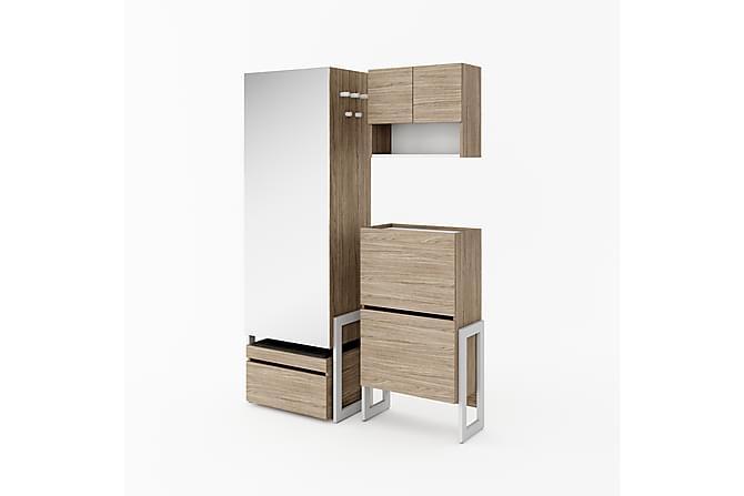 SPROUT Förvaringsskåp Smalt Vit/Trä - Möbler & Inredning - Förvaring - Garderober