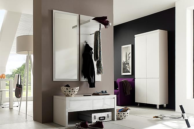 SYDNEY Garderobsskåp 62 Vit Högglans - Möbler & Inredning - Förvaring - Garderober