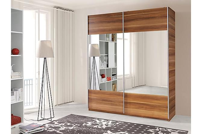 VARIO Garderob 175x60x211 cm - Brun|Vit - Möbler & Inredning - Förvaring - Garderober