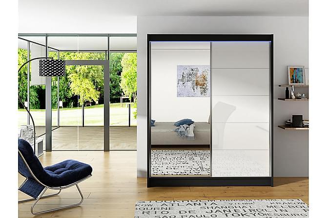 Vito Garderob 150x58x200 cm - Blå Vit - Möbler & Inredning - Förvaring - Garderober