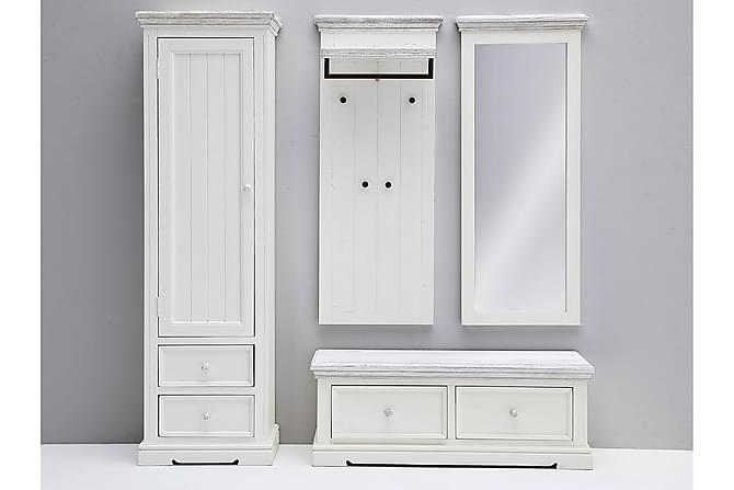 OPUS Sittbänk 120 Vit/Sandad - Inomhus - Förvaring - Hallmöbler