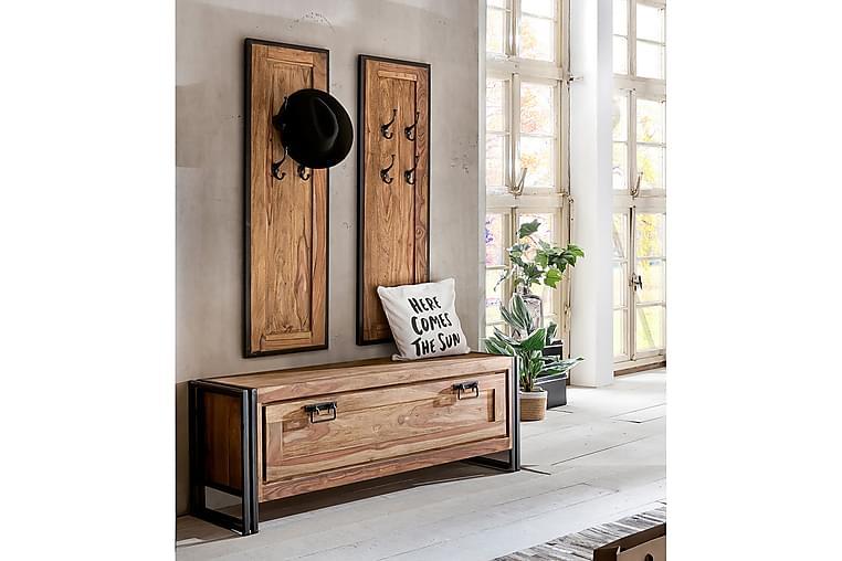 RIPONEL Hallmöbelset 3 Delar Svart/Akacia - Möbler & Inredning - Förvaring - Hallmöbler