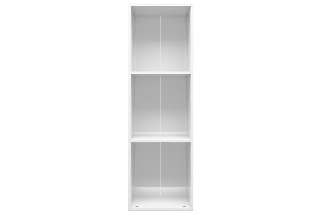 Bokhylla/TV-bänk vit högglans 36x30x114 cm spånskiva - Vit - Möbler & Inredning - Förvaring - Hyllor