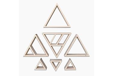 LESPALME Vägghylla Triangel Ljus Trä