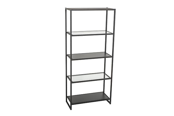 NIOMA Bokhylla 80 Svart/Glas - Möbler & Inredning - Förvaring - Hyllor
