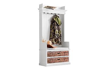 PLATI Garderobssystem 100 2 Korgfack Vit Mahogny