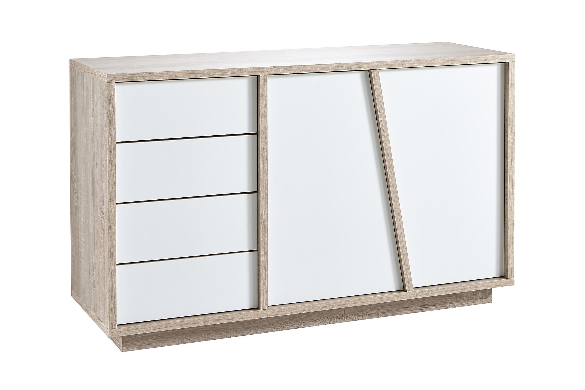 ADVENTURE Sideboard 123 Ek-Borstad/Vit, Sideboards
