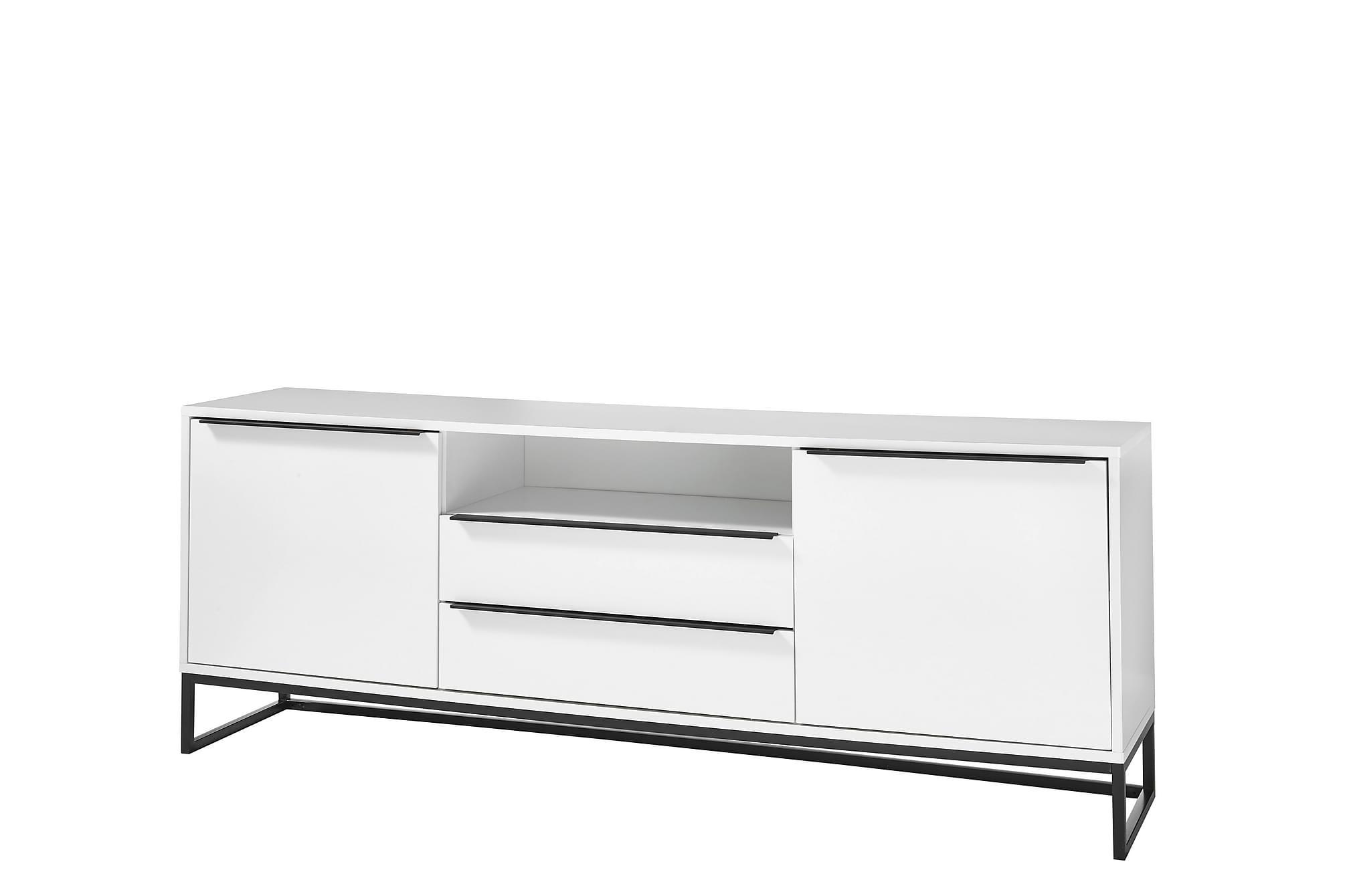 AGURKIS Lowboard 184 cm Vit|Svart, Sideboards