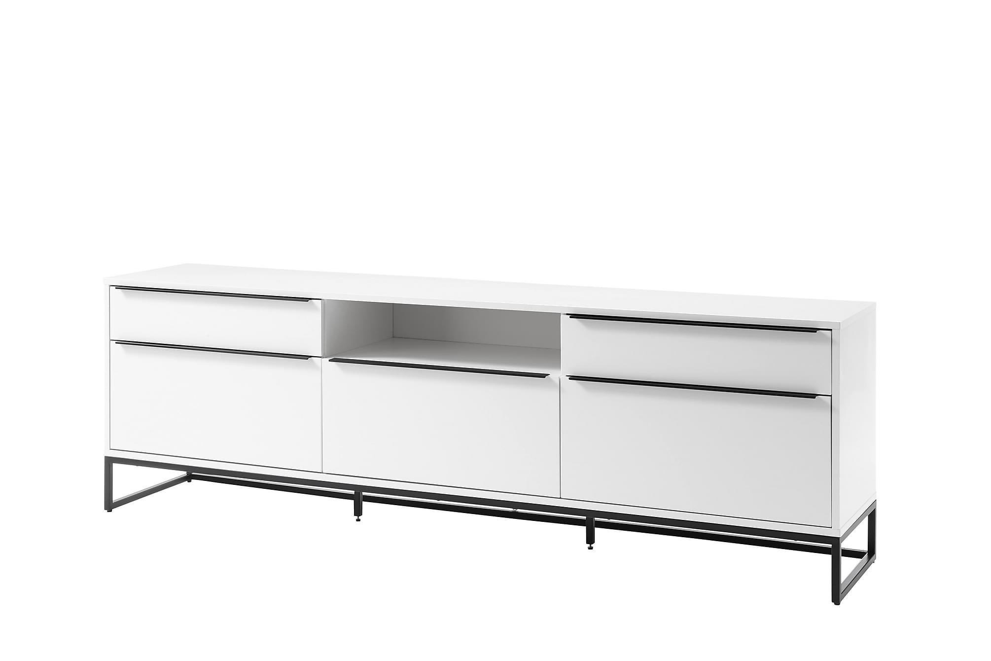 AGURKIS Lowboard 215 cm Vit|Svart, Sideboards