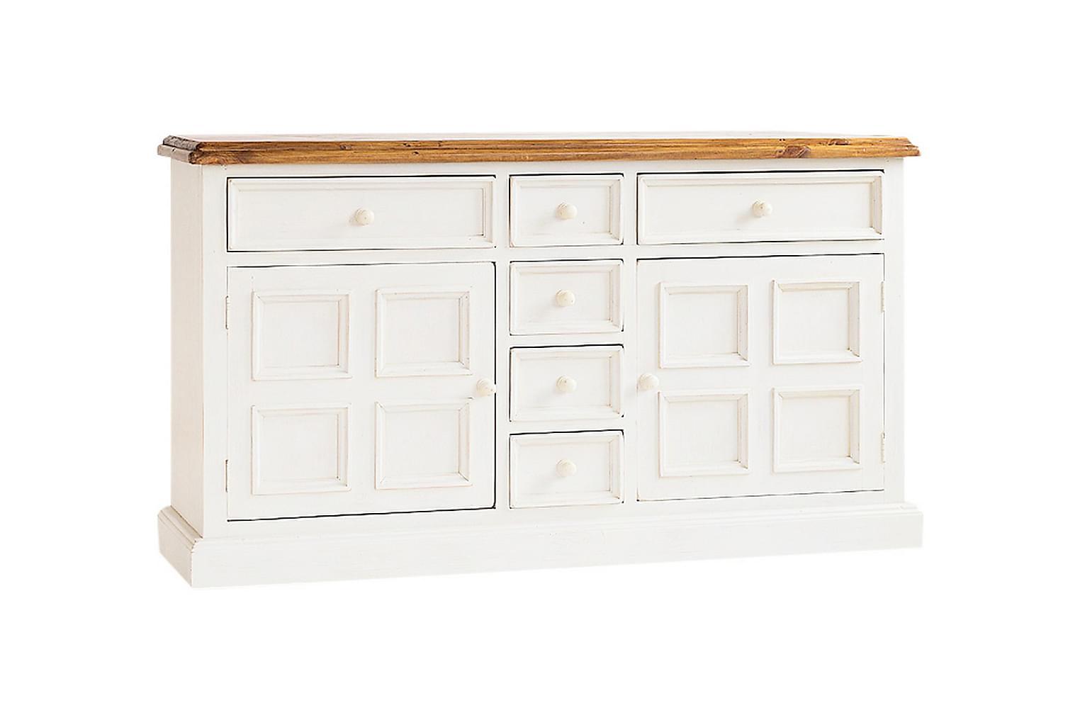 Bodde BODDE Sideboard 160 Vit/Honungslasyr -
