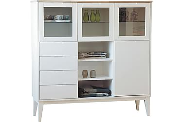 HAGUENAU Highboard Vit/Ek