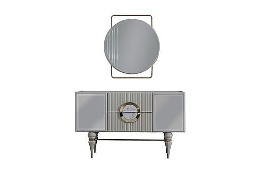 MASLAK Skänk 146x49 cm utan Spegel Beige/Guld, Sideboards