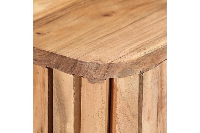 Sängbord 40x30x50 cm massivt acaciaträ - Brun - Inomhus - Förvaring - Sideboards