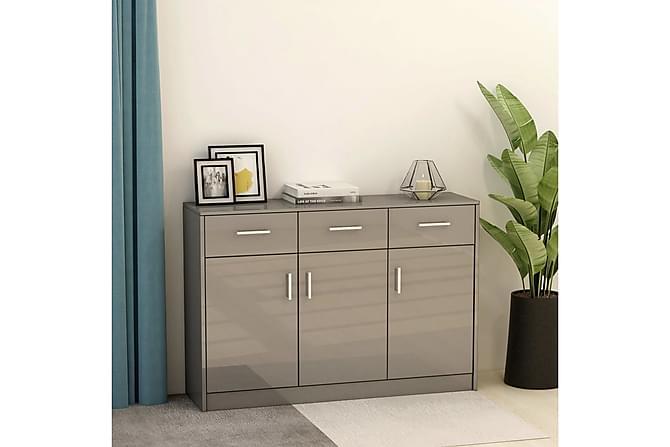 Skänk grå högglans 110x34x75 cm spånskiva - Grå - Möbler & Inredning - Förvaring - Sideboards