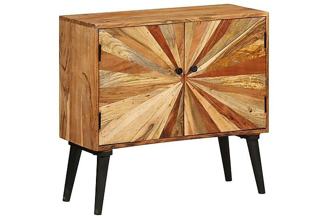 Skänk massivt mangoträ 85x30x75 cm - Brun|Svart - Möbler & Inredning - Förvaring - Sideboards
