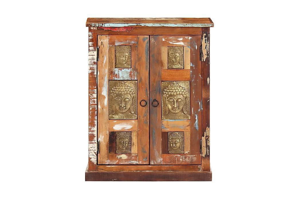 Skänk med buddha-utsmyckningar 60x35x75 cm återvunnet trä - Brun - Möbler & Inredning - Förvaring - Sideboards
