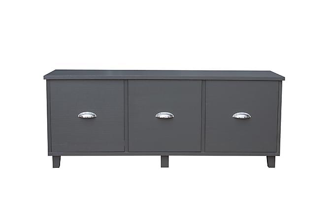 SPERONE Sittbänk med 3 Lådor Mörkgrå - Möbler & Inredning - Förvaring - Sittmöbler med förvaring