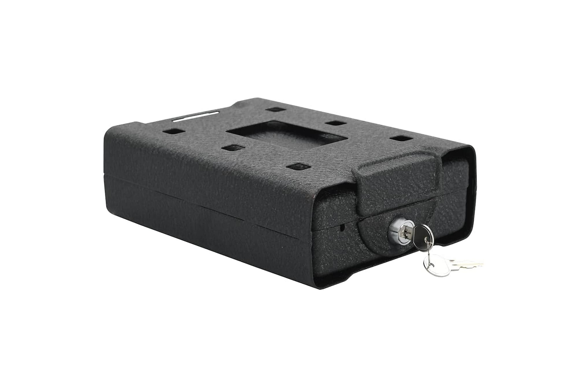 Bilkassaskåp svart 21,8x16x7 cm stål