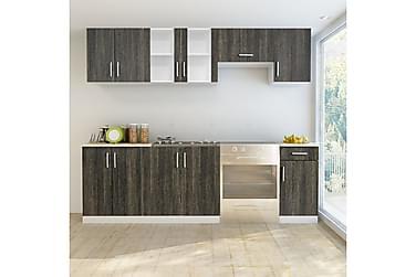 Köksskåp set 7 delar wengefärg