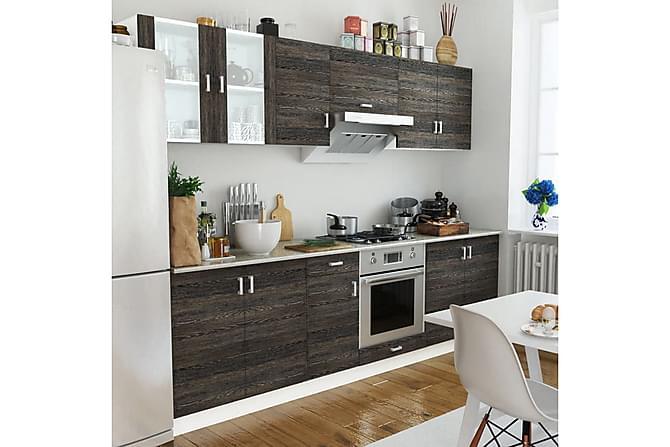 Köksskåp set 8 delar wengefärg - Wenge - Möbler & Inredning - Förvaring - Skåp
