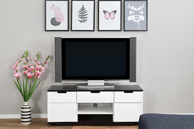 bari tv b nk 120 vit svart tv b nkar f rvaring. Black Bedroom Furniture Sets. Home Design Ideas