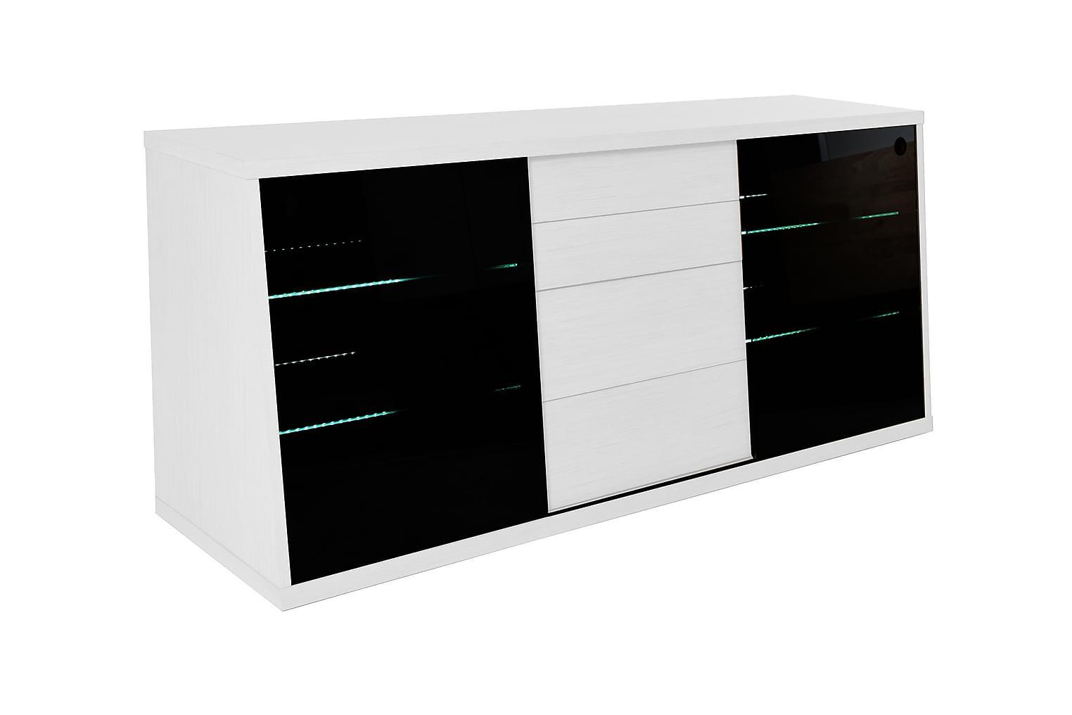 Köp FLOW Tv-bänk 150 Ekfanér Vit billigt online - Inomhus