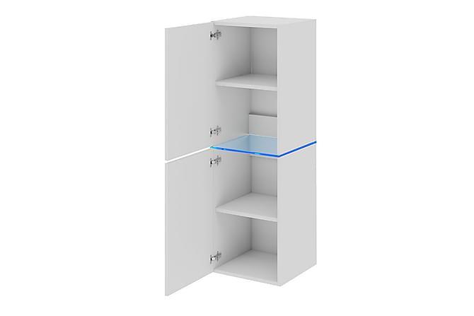 Domino Vitrinskåp 35x35x109 cm - Vit - Möbler & Inredning - Förvaring - Vitrinskåp