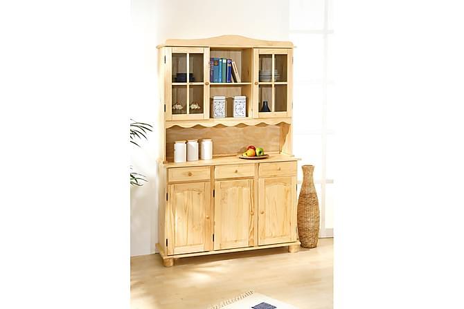 IDRE Skänkvitrin 130 Furu - Möbler & Inredning - Förvaring - Vitrinskåp