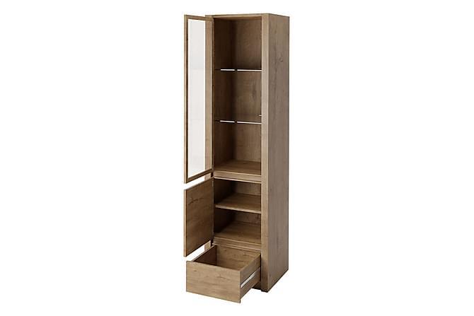 MONTANA Vitrinskåp 50x43x197 cm - Beige Brun - Möbler & Inredning - Förvaring - Vitrinskåp