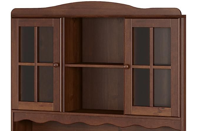 RAHAT Vitrinskåp 130 5 Dörrar 3 Lådor Brun - Möbler & Inredning - Förvaring - Vitrinskåp