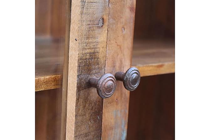 Sidoskåp återvunnet trä 120x38x180 cm - Inomhus - Förvaring - Vitrinskåp