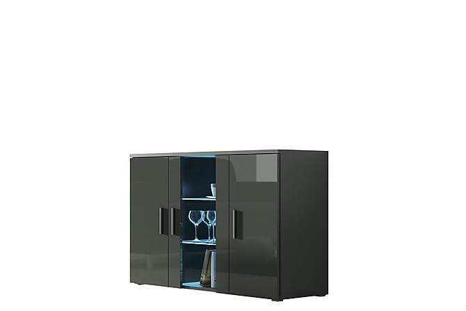 Soho Vitrinskåp 120x41x80 cm - Svart|Grå - Möbler & Inredning - Förvaring - Vitrinskåp