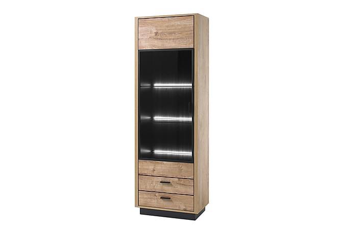 Widin Vitrinskåp 68x40x204 cm - Ek Svart - Möbler & Inredning - Förvaring - Vitrinskåp