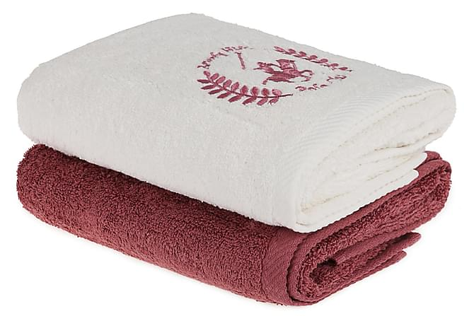BEVERLY HILLS POLO CLUB Handduk 50x90 2-pack Creme/Rosa - Inomhus - Inredning - Badrumstextilier