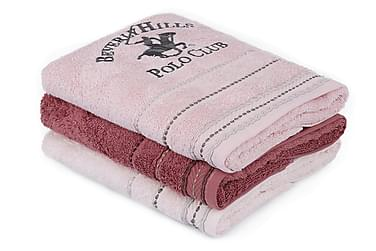 BEVERLY HILLS POLO CLUB Handduk 50x90 3-pack Rosa