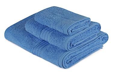 HOBBY Handduk Set om 3 Blå